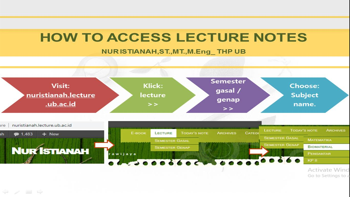 lecture note guidance